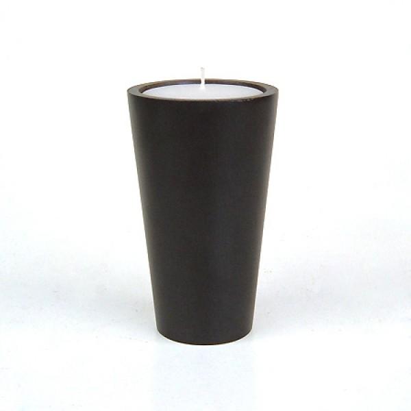 Свеча в конической чаше, дерево манго, размер L