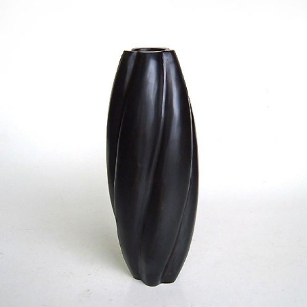 Ваза деревянная в крученом стиле цвета венге 32 см.