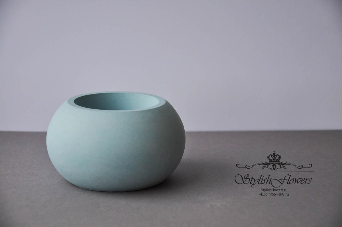 Кашпо бетонное шар